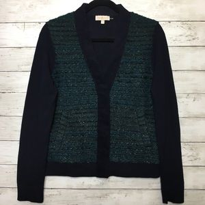 TORY BURCH Tinsel Wool Snap on Button Cardigan